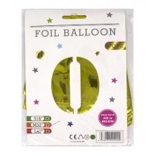 """Кульки фольг. FOIL BALLOON 75см """"Цифра-0"""""""