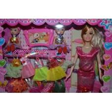 """Кукла типа """"Барби-158"""" с одеждой,куколками в короб"""