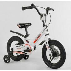 """Велосипед 14"""" 2-х кол.""""CORSO-MG62111""""(1) білий, магн.рама, диск.гальмо"""