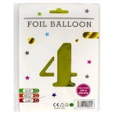 """Кульки фольг. FOIL BALLOON 75см """"Цифра-4"""""""