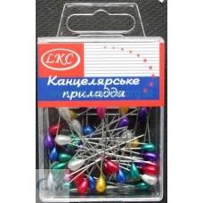"""Булавка декоративна """"ЛКС-1023"""" 50шт в пластике"""