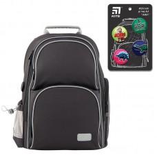 """Набір рюкзак+пенал+сумка для взуття """"Kite Smart-SET_K19-702M-4"""" чорний"""