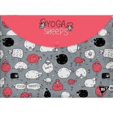 """Конверт на кнопці А-4 """"1В Yoga sheeps-491638"""""""