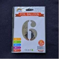 """Кульки фольг. FOIL BALLOON 75см """"Цифра-6"""""""