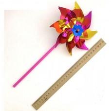 """Вітрячок кольоровий на паличці """"Квітка"""" 15см"""