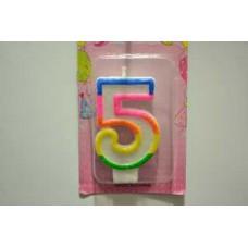 """Свічка для торта """"5"""""""