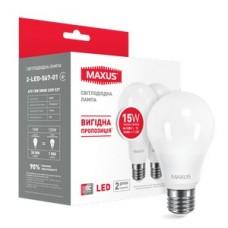 """Лампа енегозберігаюча """"Мaxus"""" А70/15W/3000К/E27"""