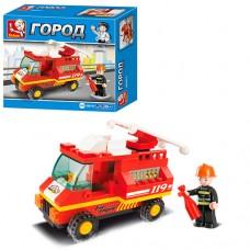 """Конструктор """"SLUBAN""""Пожежна машин""""74дет M38-B0173"""