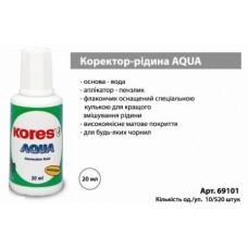 "Коректор ""Kores-K69101"" AQUA 20мл"