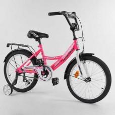 """Велосипед 18"""" 2-х кол.""""CORSO-CL18505""""(1) рож., ручн.гальмо,доп.колеса"""