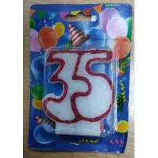 """Свічка для торта """"35"""""""
