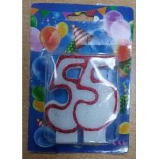 """Свічка для торта """"55"""""""