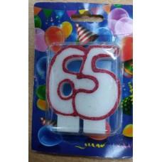 """Свічка для торта """"65"""""""