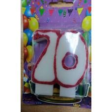 """Свічка для торта """"70"""""""