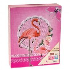 """Фотоальбом 80 фот.""""Розовый фламинго"""" 10*15см."""