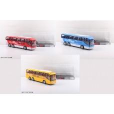 Автобус инерц.,под слюдой 33х13см 828-A1/A2/A3