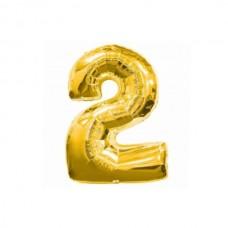 """Кульки повітряні фольговані 30""""/32"""" """"Цифра 2"""""""