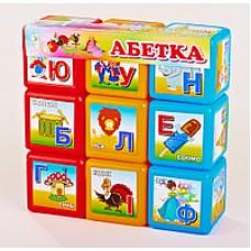 """Кубики """"Абетка"""" 9шт. великі"""