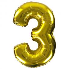 """Кульки повітряні фольговані 30""""/32"""" """"Цифра 3"""""""
