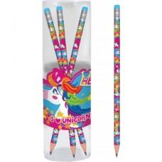 """Олівець """"1В Magic unicorn-280435"""" з гумкою"""
