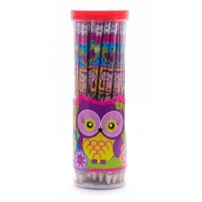 """Олівець """"1В Owl-280419"""" з гумкою"""
